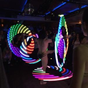 Hula hooping Cirque de Sukkah