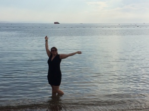 ME standing in the RED SEA...just like MOSES!