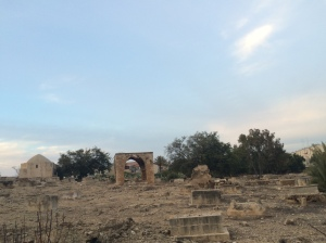The cemetery?