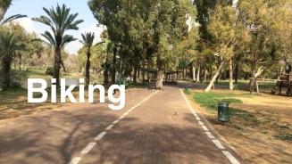 biking in Yarkon