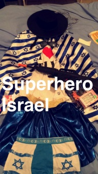 Israeli super hero Purim costume